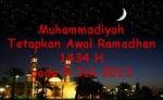 Awal Ramadhan 1434 H