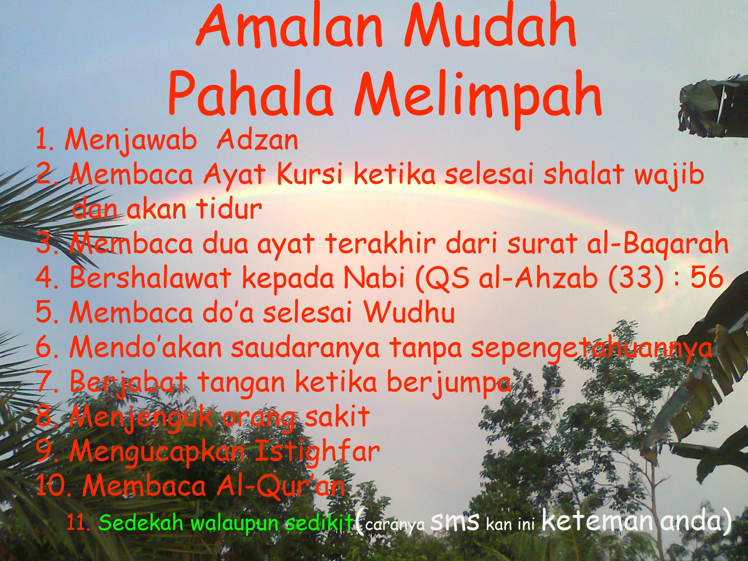 Amalan Mudah Pahala Melimpah Marhenyantoz S Blog